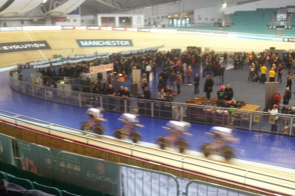 Cyclists at the Velodrome