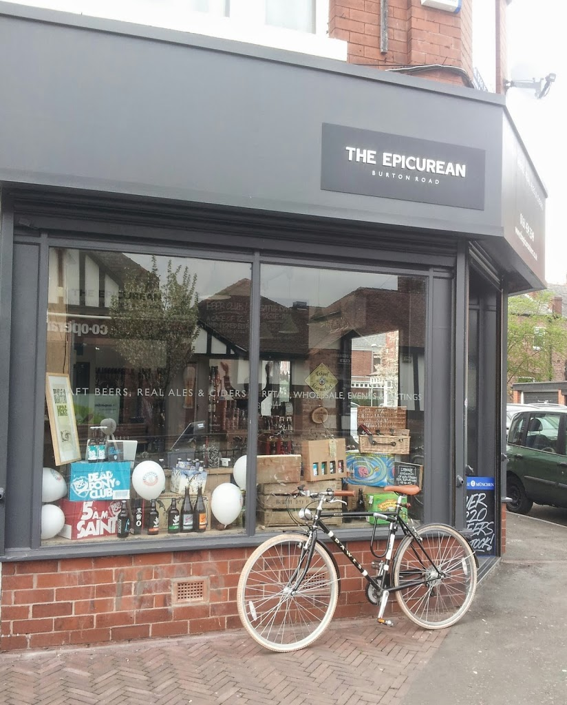 The Epicurean shop front on Burton Road, West Didsbury