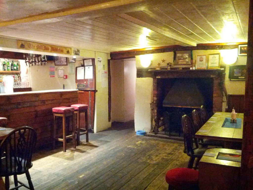 Inside the traditional public bar of the Bell Inn Adnams pub, in Middleton