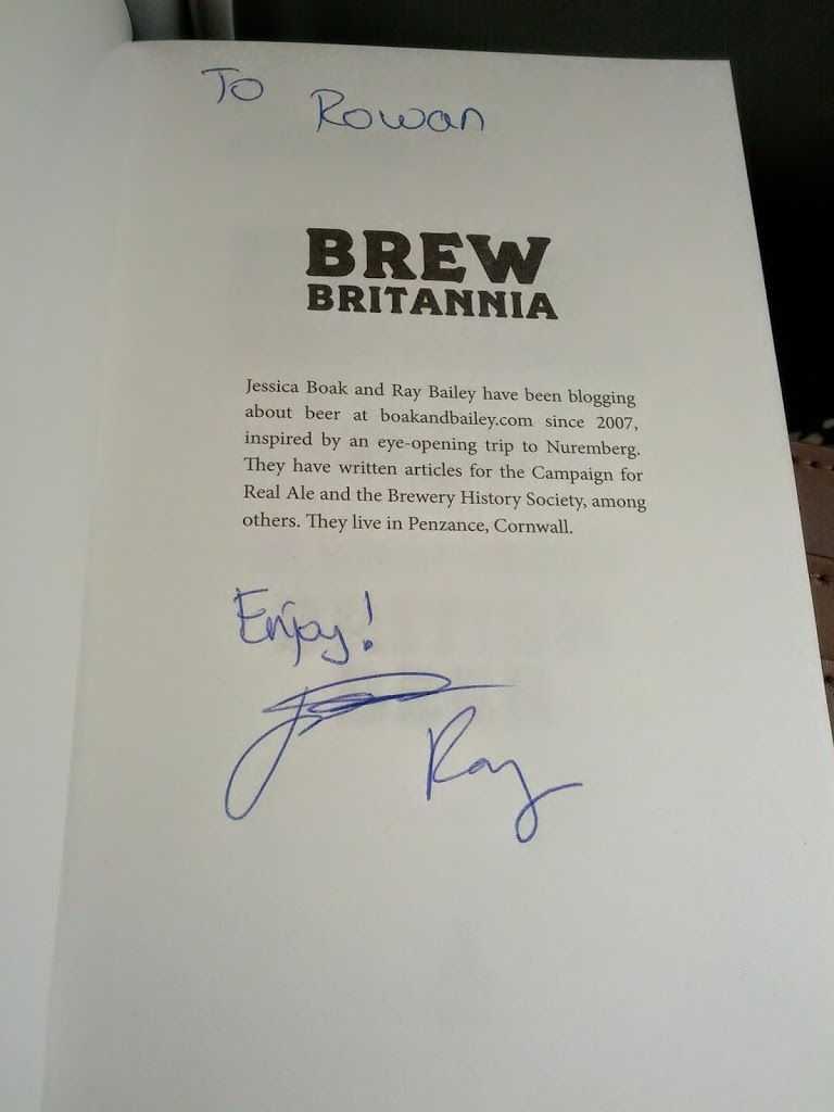 A signed copy of Brew Britannia from Boak and Bailey