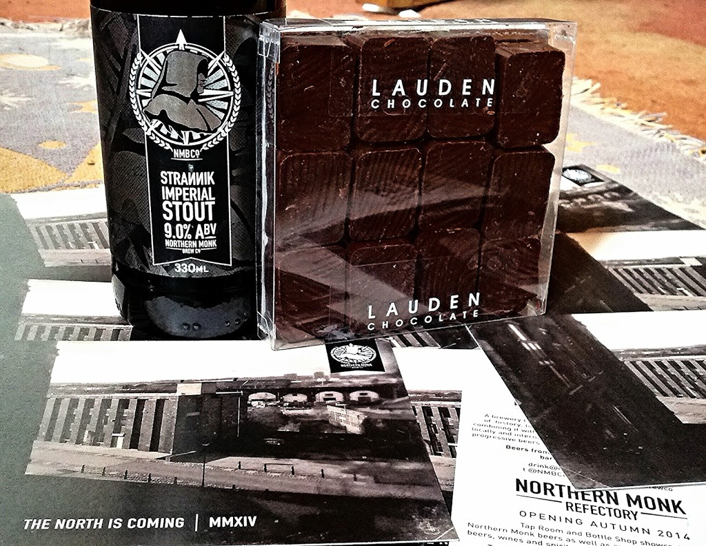 Northern Monk Brew Co Strannik Imperial Stout and Lauden Dark Chocolate Truffles